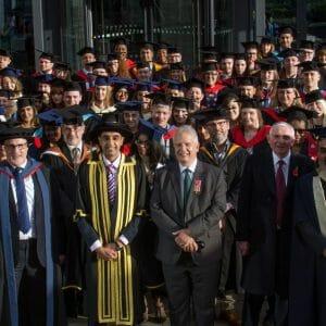 Graduates open ceremony with parade