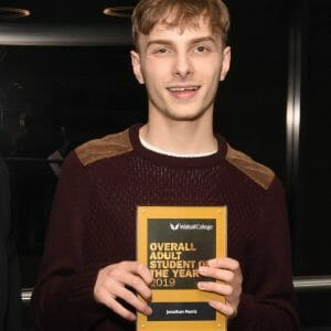 ​Ability and ambition earn Jonathan an Adult Student of the Year Award