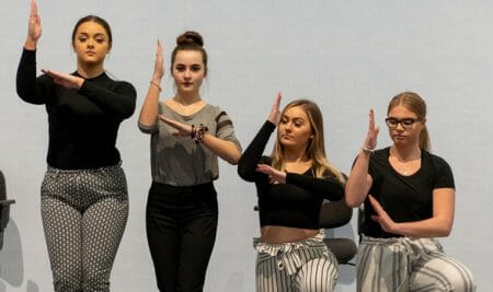Art exhibition comes to life through student performance