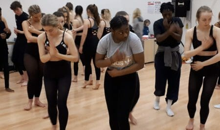Curtain up for college dance students