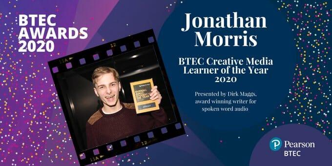 Jonathan Morris btec award web