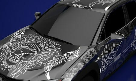 Tribal design by student, Kyra wins the Lexus Design your own Tattooed Car Competition