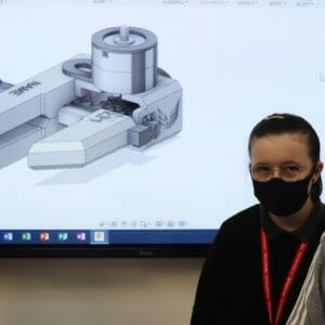 Robotic arm design grabs gold level status