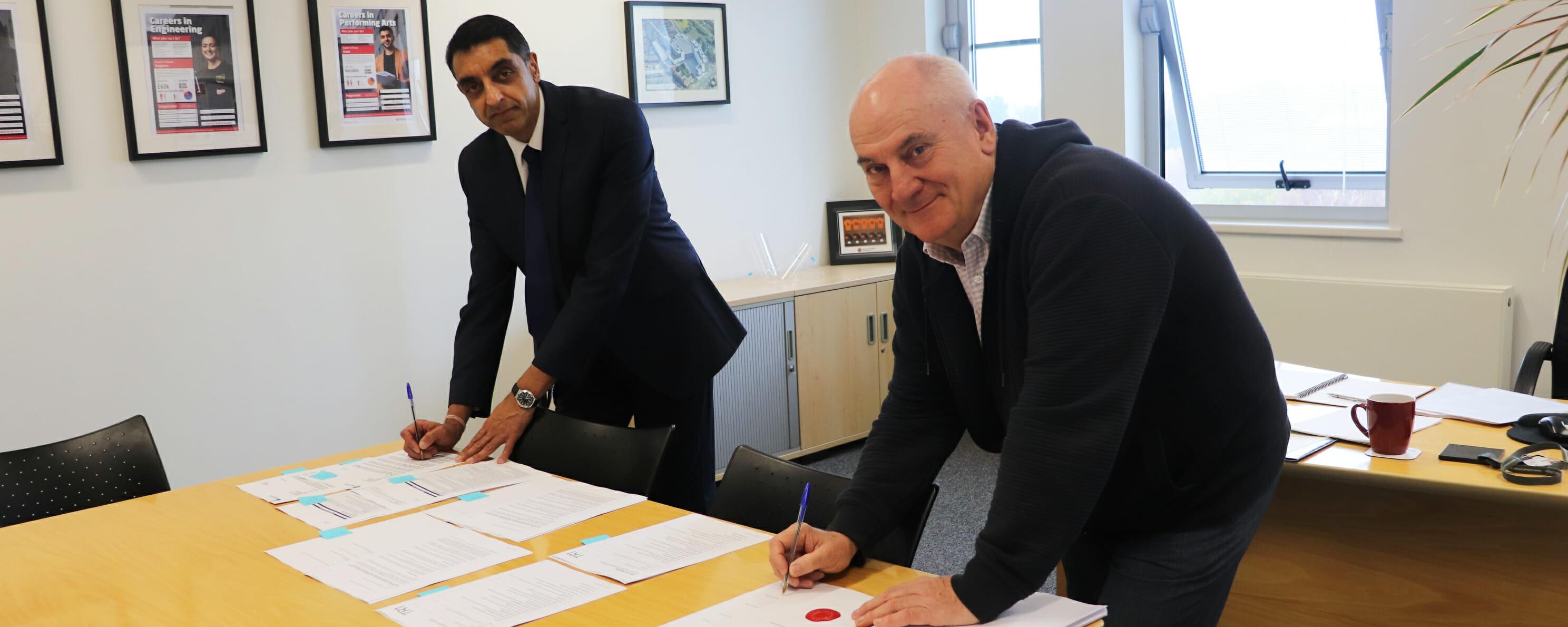 Jatinder Sharma OBE & Allan Pinnegar web