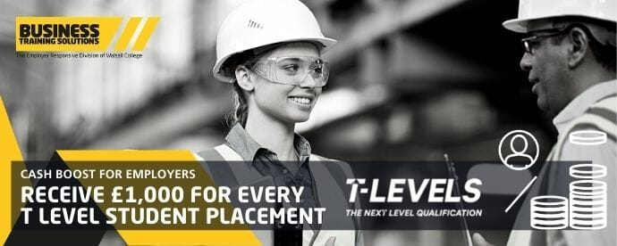 Employer t level cash boost news story
