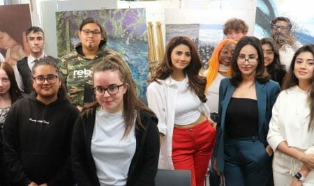 Bollywood and Pollywood movie makers on location at Walsall College